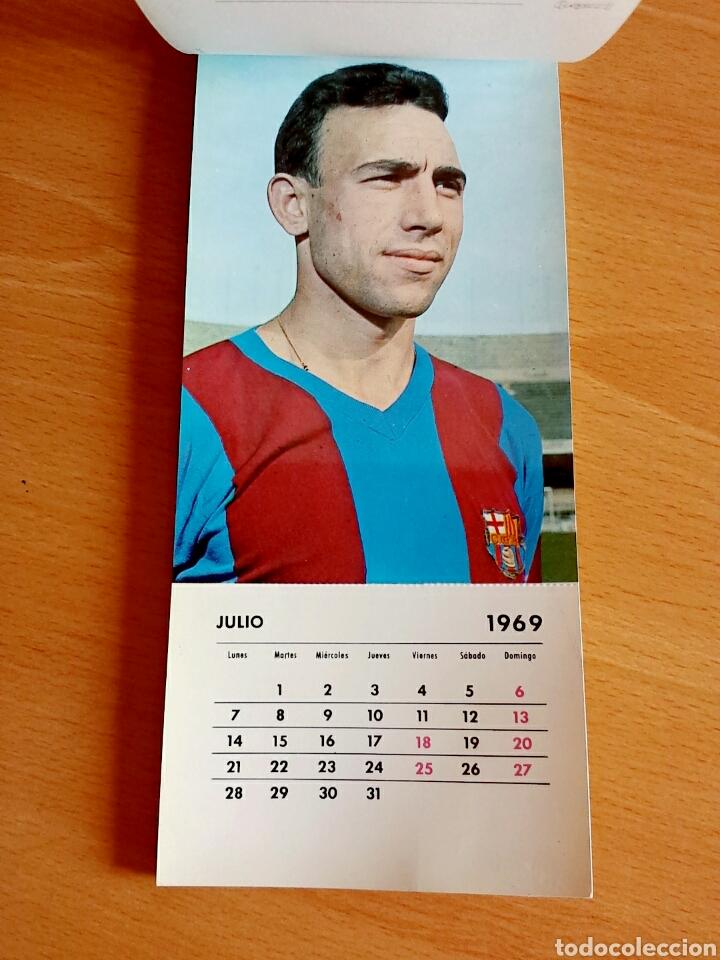 Coleccionismo deportivo: Calendario postal Fútbol 1969 C. F. BARCELONA - Foto 9 - 90860710