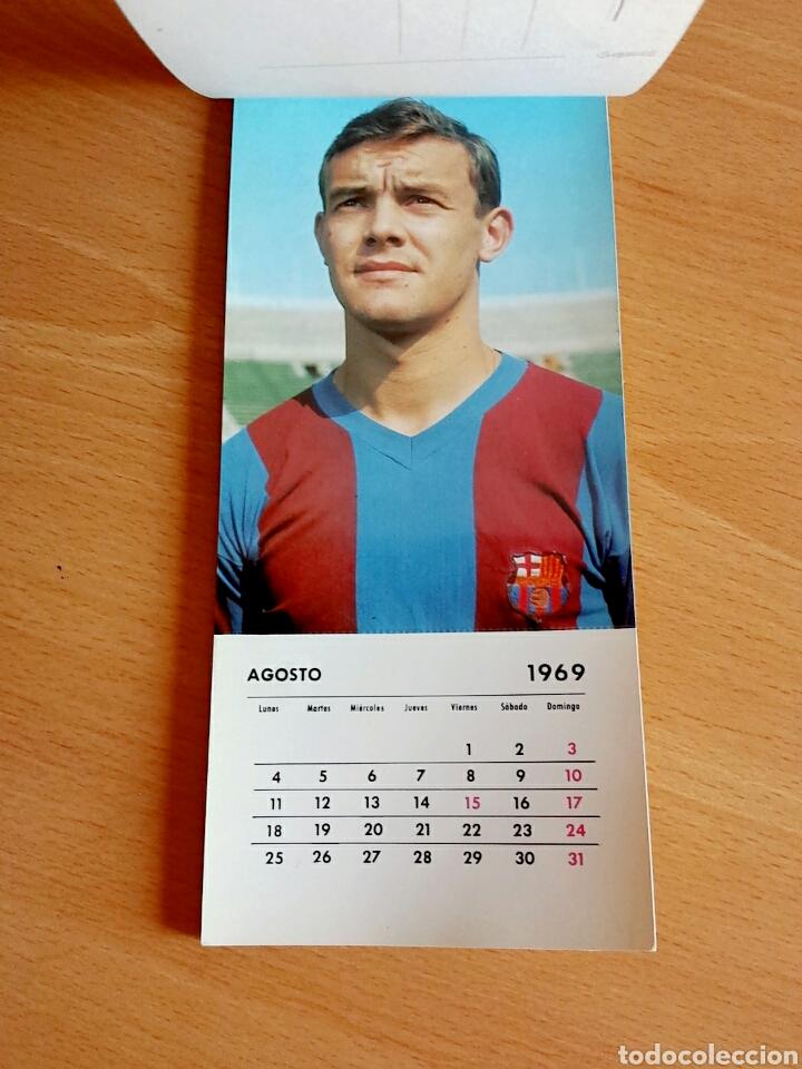 Coleccionismo deportivo: Calendario postal Fútbol 1969 C. F. BARCELONA - Foto 10 - 90860710