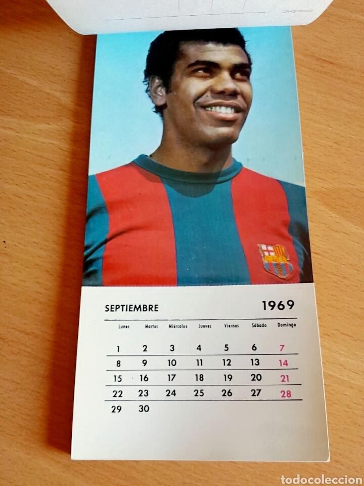 Coleccionismo deportivo: Calendario postal Fútbol 1969 C. F. BARCELONA - Foto 11 - 90860710