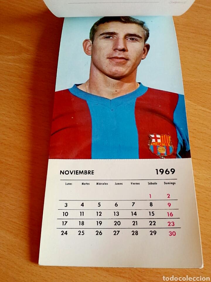 Coleccionismo deportivo: Calendario postal Fútbol 1969 C. F. BARCELONA - Foto 13 - 90860710