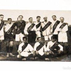 Coleccionismo deportivo: ANTIGUA POSTAL FOTOGRÁFICA EQUIPO FOOT-BALL. PARTIDO PRO-VÍCTIMAS DEL RIFF. SABADELL 1913. Lote 91942400