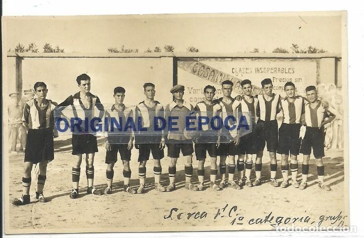 (F-170741)POSTAL FOTOGRAFICA LORCA C.F.1928.ARCHIVO SANTIAGO GARCIA MARTINEZ SOCIO Nº1 R.C.D.ESPAÑOL (Coleccionismo Deportivo - Postales de Deportes - Fútbol)