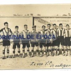 Coleccionismo deportivo: (F-170741)POSTAL FOTOGRAFICA LORCA C.F.1928.ARCHIVO SANTIAGO GARCIA MARTINEZ SOCIO Nº1 R.C.D.ESPAÑOL. Lote 92012140
