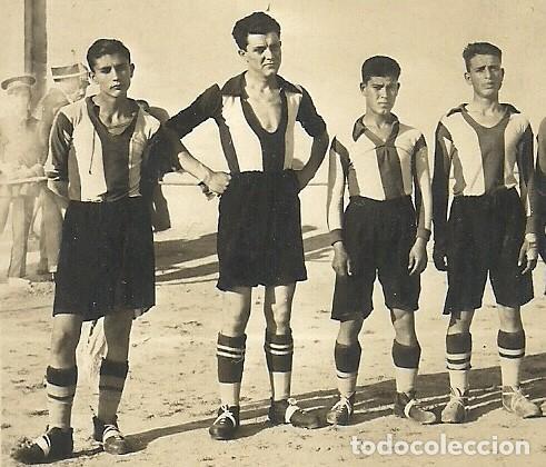 Coleccionismo deportivo: (F-170741)POSTAL FOTOGRAFICA LORCA C.F.1928.ARCHIVO SANTIAGO GARCIA MARTINEZ SOCIO Nº1 R.C.D.ESPAÑOL - Foto 2 - 92012140