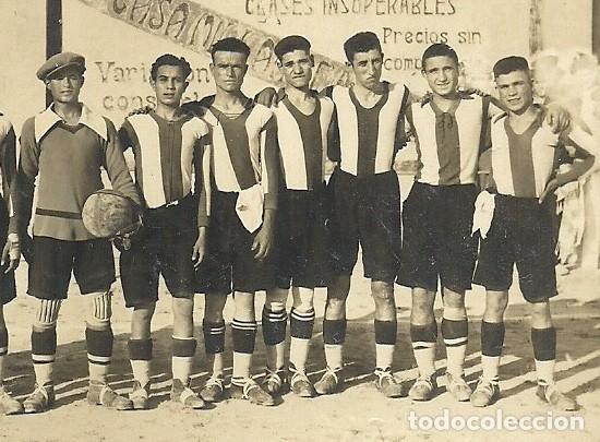 Coleccionismo deportivo: (F-170741)POSTAL FOTOGRAFICA LORCA C.F.1928.ARCHIVO SANTIAGO GARCIA MARTINEZ SOCIO Nº1 R.C.D.ESPAÑOL - Foto 3 - 92012140