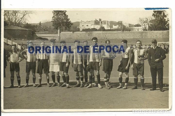 (F-170750)POSTAL FOTOGRAFICA R.C.D.ESPAÑOL,AFICIONADOS.ARCHIVO SANTIAGO GARCIA MARTINEZ SOCIO Nº1 (Coleccionismo Deportivo - Postales de Deportes - Fútbol)