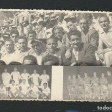 Coleccionismo deportivo: COMPOSICIÓN FOTOGRÁFICA.PLANTILLAS DEL REAL MADRID Y EL SEVILLA C.F.- 4º TROFEO CARRANZA.AÑO 1958. Lote 92877865