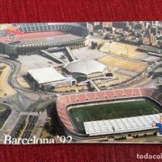 Coleccionismo deportivo: R2677 POSTAL FOTOGRAFIA OLIMPIADAS BARCELONA 92 1992 COBI AREA DIAGONAL NOU CAMP. Lote 93156370