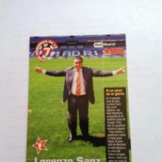 Coleccionismo deportivo: FOTO POSTAL MARCA REAL MADRID LOS HOMBRES DE LA SÉPTIMA 97-98, 1997-1998: LORENZO SANZ (PRESIDENTE). Lote 93304850