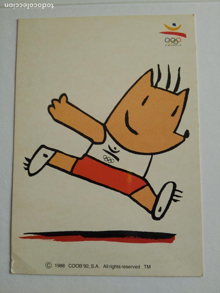 POSTAL COBI BARCELONA 92 JUEGOS OLIMPICOS Nº 45 ATLETISMO 2 EDITA FOTOS JULIAN 1988 (Coleccionismo Deportivo - Postales de Deportes - Fútbol)