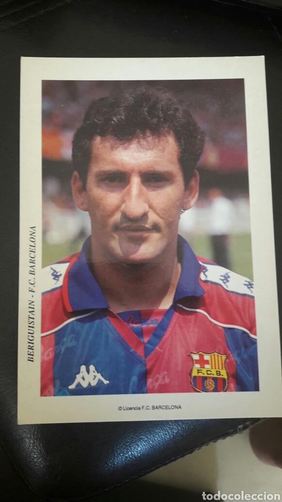 POSTAL POST CARD BERIGUISTAIN F C BARCELONA (Coleccionismo Deportivo - Postales de Deportes - Fútbol)