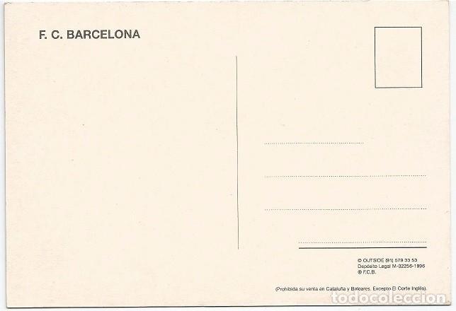 Coleccionismo deportivo: POSTAL DE ABELARDO UN JUGADOR QUE DEJO HUELLA EN EL BARCELONA - Foto 2 - 214658763