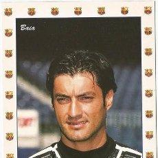 Coleccionismo deportivo: POSTAL DE VITOR BAIA JUGADOR DEL F.C. BARCELONA. Lote 165772998