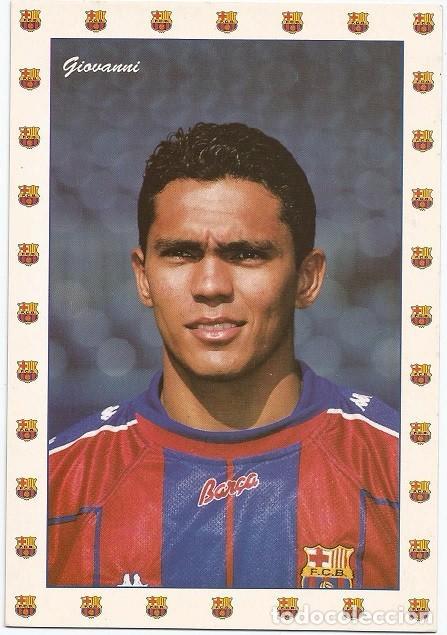POSTAL DE GGIOVANNI, F.C. BARCELONA (Coleccionismo Deportivo - Postales de Deportes - Fútbol)
