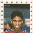Coleccionismo deportivo: POSTAL DE MICHAEL REIZIGER, F.C. BARCELONA. Lote 97949759