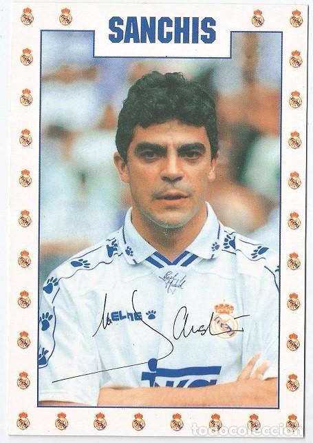 POSTAL DE SANCHIS, REAL MADRID (Coleccionismo Deportivo - Postales de Deportes - Fútbol)