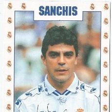 Coleccionismo deportivo: POSTAL DE SANCHIS, REAL MADRID. Lote 214655456