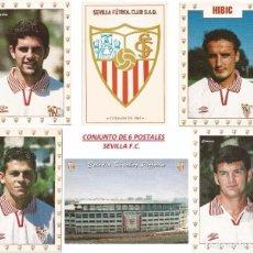 Coleccionismo deportivo: CONJUNTO 6 POSTALES, SEVILLA F.C. CON CARLITOS Y OTROS. Lote 96100907