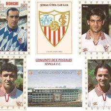 Coleccionismo deportivo: CONJUNTO 6 POSTALES, SEVILLA F.C. CON MONCHI Y OTROS. Lote 96103607