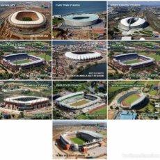 Coleccionismo deportivo: FIFA 2010 COPA MUNDIAL DE FÚTBOL SUDÁFRICA LOTE DE POSTALES DE LOS 10 ESTADIOS. Lote 96945367