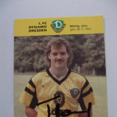Coleccionismo deportivo: FOTO POSTAL JUGADOR F.C. DYNAMO DRESDEN. MELZIG JENS FIRMADA. TDKP12. Lote 98136519