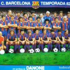 Coleccionismo deportivo: POSTER F.C. BARCELONA TEMPORADA 82 - 83. Lote 98581463