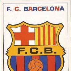 Coleccionismo deportivo: POSTAL ESCUDO F.C. BARCELONA, ESTA POSTAL ES DEL AÑO 1994. Lote 107039820