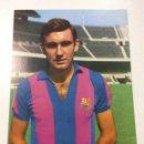Coleccionismo deportivo: POSTAL FICHA TECNICA PEDRO MARIA ZABALZA FC F.C BARCELONA BARÇA WILLIAMS. Lote 101460658