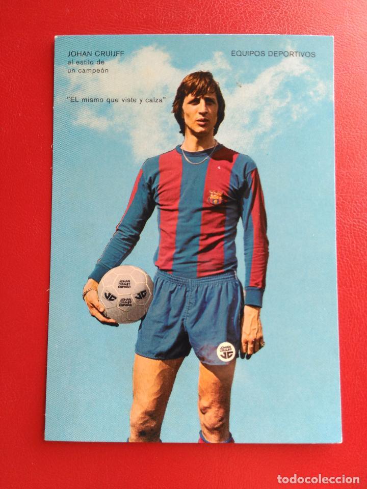 POSTAL FUTBOL JOHAN CRUYFF F.C. BARCELONA AÑOS 70 (Coleccionismo Deportivo - Postales de Deportes - Fútbol)