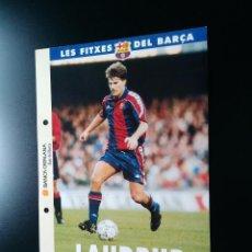 Coleccionismo deportivo: POSTAL F.C. BARCELONA SPORT LIGA 1993-1994 - LES FITXES DEL BARÇA 93-94 EN CATALÁN: MICHAEL LAUDRUP. Lote 101451767