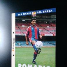 Collectionnisme sportif: POSTAL F.C. BARCELONA SPORT LIGA 1993-1994 - LES FITXES DEL BARÇA 93-94 (EN CATALÁN): ROMARIO. Lote 101451783