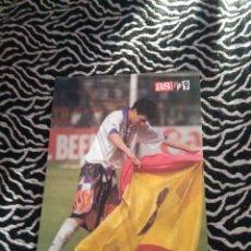 Coleccionismo deportivo: LAMINA POSTAL 1 PÁG DIARIO AS CAMPEÓN SÉPTIMA 1997-1998 REAL MADRID JUVENTUS 97-98: RAÚL TORERO. Lote 101537211