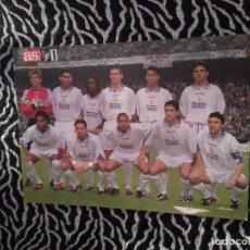Coleccionismo deportivo: LAMINA POSTAL 1 PÁG. DIARIO AS REAL MADRID 1997-1998, 97-98 CAMPEÓN SÉPTIMA VS JUVENTUS: ALINEACIÓN. Lote 101537331