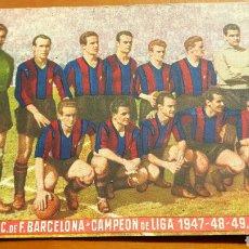 Coleccionismo deportivo: POSTAL BARCELONA CAMPEON LIGA 1947 48 49. Lote 101679691