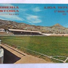 Coleccionismo deportivo: POSTAL ESTADIO. CAMPO FÚTBOL DEL COLLAO. C.D. ALCOYANO. ALCOY. ALICANTE. LIGA 1971-72. 1967.. Lote 103317047