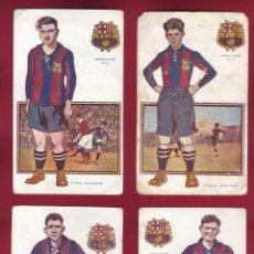 Coleccionismo deportivo: 8 POSTALES BARCELONA JUGADORES DE FOOT-BALL EDICIONES AMATLLER. Lote 103397927