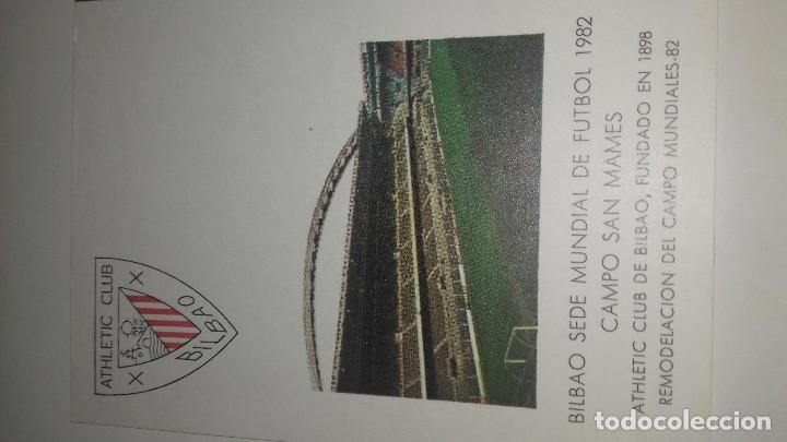Coleccionismo deportivo: POSTAL SAN MAMES ATHLETIC DE BILBAO MUNDIAL ESPAÑA 82 ORIGINAL MATASELLOS PERFECTA - Foto 2 - 103640867