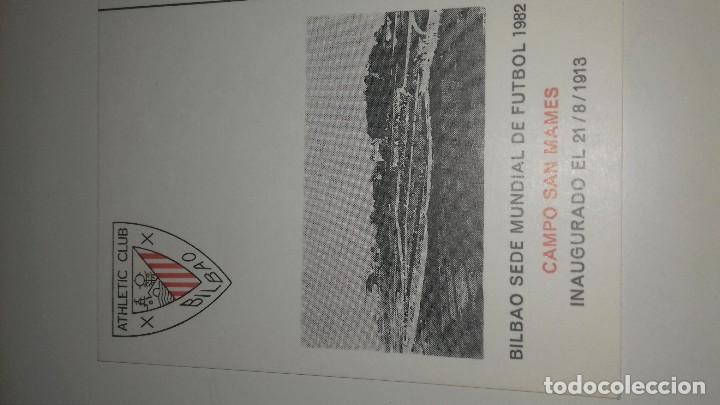 Coleccionismo deportivo: POSTAL SAN MAMES ATHLETIC DE BILBAO SEDE MUNDIAL ESPAÑA 82 ORIGINAL MATASELLOS PERFECTA - Foto 2 - 103641031