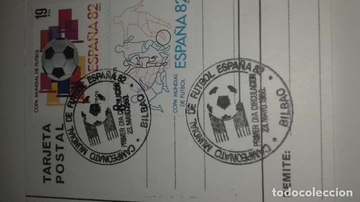 Coleccionismo deportivo: POSTAL SAN MAMES ATHLETIC DE BILBAO SEDE MUNDIAL ESPAÑA 82 ORIGINAL MATASELLOS PERFECTA - Foto 3 - 103641119
