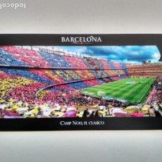 Coleccionismo deportivo: POSTAL PANORÁMICA CAMP NOU ESTADIO BARÇA FC BARCELONA STADIUM STADE FOTO INTERIOR EN EL CLÁSICO. Lote 103837699