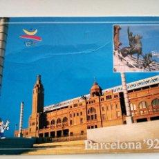 Coleccionismo deportivo: POSTAL ESTADI OLIMPIC LLUIS COMPANYS BARCELONA OLYMPIC STADIUM BARCELONA 92 COBY. Lote 103846455