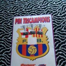 Coleccionismo deportivo: ANTIGUA POSTAL DIARIO SPORT F.C.BARCELONA TRICAMPIONS LIGA 1990-91,1991-92,1992-93, DREAM TEAM BARÇA. Lote 103847827