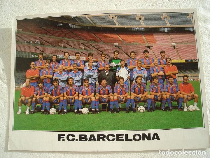 POSTAL FC BARCELONA 1990-1991. (Coleccionismo Deportivo - Postales de Deportes - Fútbol)