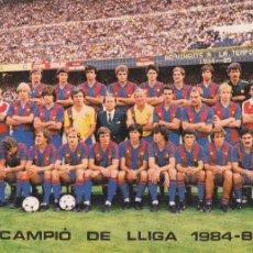 Coleccionismo deportivo: BARÇA: GRAN POSTAL DE LA TEMPORADA 84-85. Lote 107273495