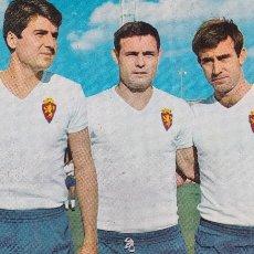 Coleccionismo deportivo: REAL ZARAGOZA: POSTAL DE VILLA, MARCELINO Y LAPETRA. AÑOS 60. Lote 107357567