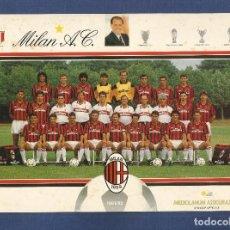 Coleccionismo deportivo: POSTAL DEL MILAN A.C TEMPORADA 1991/92 - ESCRITA, VER REVERSO. Lote 108912691