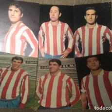 Coleccionismo deportivo: LOTE POSTALES ANTIGUAS FUTBOL ATLÉTICO MADRID FUTBOLISTAS . Lote 110201971