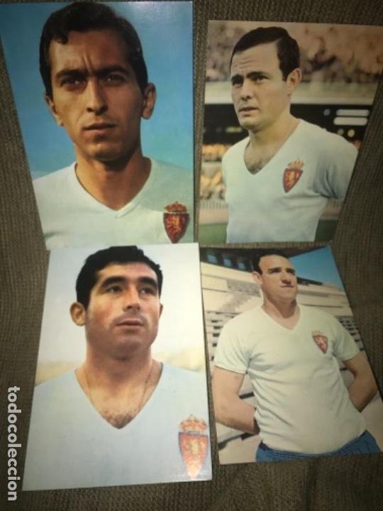 LOTE ANTIGUAS POSTALES FUTBOL REAL ZARAGOZA FUTBOLISTAS AÑOS 50-60 (Coleccionismo Deportivo - Postales de Deportes - Fútbol)