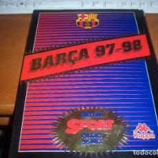 Coleccionismo deportivo: BARÇA 97 - 98 COLECCION SPORT DE 26 POSTALES GIGANTES DE 21 X 30 CMS CON RELIEVE. COMPLETO.. Lote 110561635