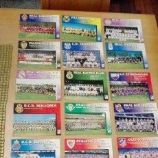 Coleccionismo deportivo: COLECCION COMPLET EQUIPOS FUTBOL LIGA 1998 EXTREMADURA OVIEDO MALLORCA ATHLETIC REAL TENERIFE RACING. Lote 111760051